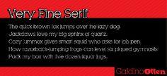 Very Fine Serif Font