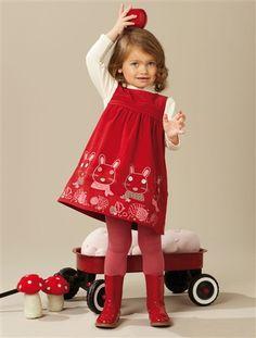 Niedliches Cord-Kleid und Bluse in einem von Vertbaudet #2012