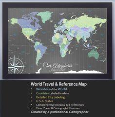 Amazoncom Giant World MegaMap Large Wall Map NonLaminated - Giant world map poster laminated