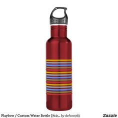 Your Custom Water Bottle (710 ml), Red