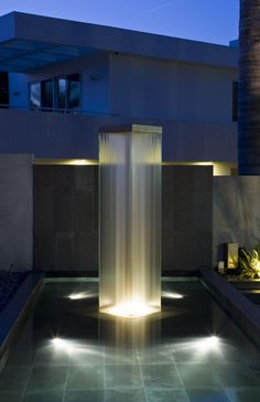 Playa del Rey Residence | Really cool water feature, great inspiration for adamchristopherdesign.co.uk