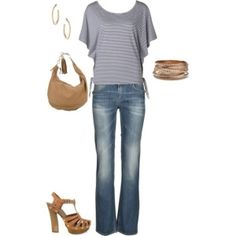 Casual, created by mandys120 on Polyvore by olive