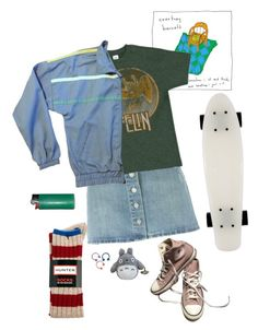 """""""zero"""" by aliennbby on Polyvore featuring Étoile Isabel Marant, Hunter and Converse"""