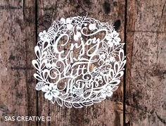 Christmas Papercut Template 'Merry Little Christmas' PDF JPEG for handcutting & SVG file for Silhouette Cameo or Cricut Merry Little Christmas, Christmas Paper, Christmas Design, Christmas Cards, Xmas, Paper Cutting Patterns, Paper Cutting Templates, Paper Art, Paper Crafts