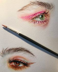 Amazing Learn To Draw Eyes Ideas. Astounding Learn To Draw Eyes Ideas. Watercolor Eyes, Watercolor Paintings, Black Art, Art Sketches, Art Drawings, Cut Out Art, Eye Sketch, Eye Painting, Aesthetic Drawing