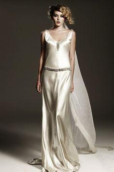 Art Deco Wedding Gown Violet
