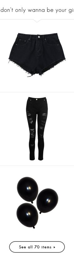 """I don't only wanna be your girl"" by gentlegore ❤ liked on Polyvore featuring shorts, bottoms, denim cut offs, mini shorts, denim shorts, short shorts, micro denim shorts, jeans, pants and calças"