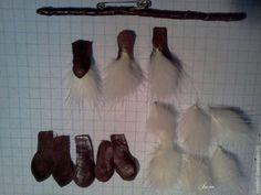 Мастер-класс: брошь «Вербочка» из меха и кожи - Ярмарка Мастеров - ручная работа, handmade