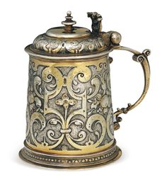 DAVID EH(E)KIRCH GERMAN PARCEL-GILT TANKARD,  Augsburg, 1614-1616,