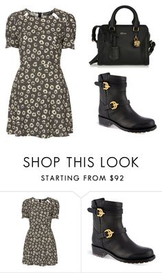 """""""Paris with the girls"""" by stardustxox ❤ liked on Polyvore featuring Topshop, Valentino and Alexander McQueen"""