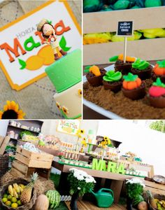 Fruit garden themed birthday party via Karas Party Ideas! KarasPartyIdeas.com #unique #party #ideas #birthday #garden #fruit #spring #cake #cupcakes #idea