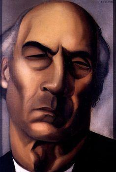 Retrato de André Gide   Tamara de Lempicka   Periodo 1925 - 1926   Please, leave your comment. Thank you