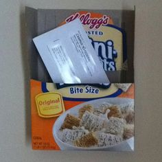 Reuse an old cereal box for mail! Made this in like 5 seconds :)