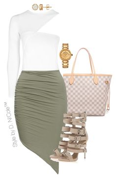 """Untitled #3281"" by stylebydnicole ❤ liked on Polyvore featuring Louis Vuitton, Giuseppe Zanotti and Versace"