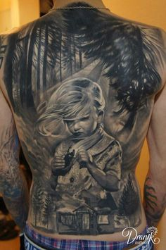 tattoo m nner r cken tattoos body paintings pinterest. Black Bedroom Furniture Sets. Home Design Ideas