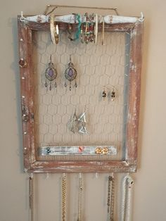 View our sold hanging jewelry organizers to get ideas for a custom piece or pieces. Jewelry Holder Wall, Jewelry Boxes For Sale, Wall Mount Jewelry Organizer, Jewelry Wall, Hanging Jewelry Organizer, Wall Organization, Jewelry Organization, Bridal Shower Gifts, Bridal Gifts