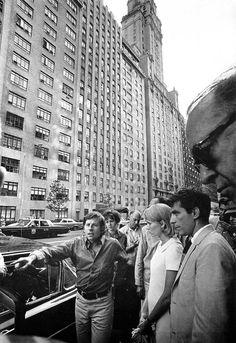 Filming Rosemarys Baby...Roman Polanski directing Mia Farrow on the New-York city street