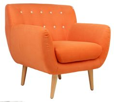 The Armchair - Matt Blatt Orange Room Decor, Orange Rooms, Value Furniture, Bedroom Furniture, Furniture Chairs, Lounge Suites, Home Reno, Love Seat, Accent Chairs