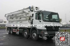 Concrete pump truck manufacturers#engineering truck hangzhou#  http://www.engineering-truck.com/truck-mounted-concrete-pump-42m-product-4.html  Email: info@engineering-truck.com  Tel:0086-0571-83696958