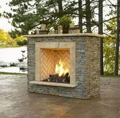 Love this outdoor fireplace. Already have gas going to a built in gas grill which needs to be removed. Have been strongly considering building an outdoor fireplace in it's place. Love this one.