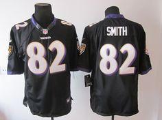 Limited #82 Black Smith Nike Baltimore Ravens Jersey