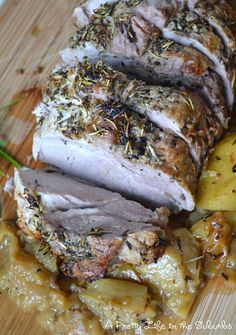 Fall Meals: Garlic & Rosemary Roasted Pork recipe- Dinner #freezercooking #realfood #oamc