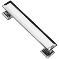 Southern Hills Cabinet Pull Polished Chrome, 4 Inch Screw Spacing, Beveled Handles, Pack of 5, Modern Cabinet Hardware