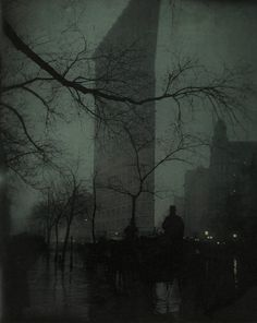 Edward Steichen (American, born Luxembourg, 1879–1973)  The Flatiron  1904  Gum bichromate over platinum print  47.8 x 38.4 cm (18 13/16 x 15 1/8 in.)  The Metropolitan Museum of Art, Alfred Stieglitz Collection, 1933