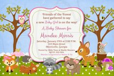 Hey, I found this really awesome Etsy listing at https://www.etsy.com/listing/199185763/woodland-baby-shower-or-birthday-invite