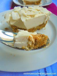 Torta fría de yogurt y coco   Cocinar en casa es facilisimo.com