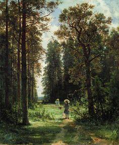 1880+Path+though+the+Woods+oil+on+canvas+59+x+48+cm.jpg (821×1000)Ivan Shishkin