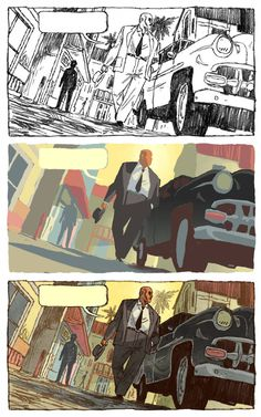 PROCESS by ~JakeWyatt on deviantART low angle street city exterior environment day Storyboard, Comic Books Art, Comic Art, Book Art, Comics Illustration, Illustrations, Comic Tutorial, Comic Layout, Graphic Novel Art