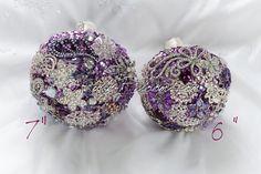 Crystal Lavender Wedding Brooch Bouquet. Deposit by Rubybloomscom