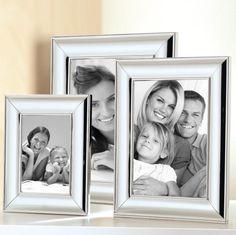 FINK Living Bilderrahmen GRACE (versilbert, silber, Wand, Aufsteller, Hochzeit, Geburtstag, Format 9x13 cm, 13x18 cm, 10x15 cm)