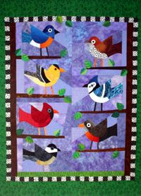 Quilters Corner: Event: Feathered Friends - May Block of the Month