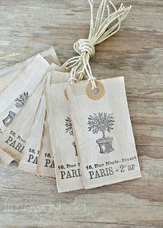 Placecard tags.