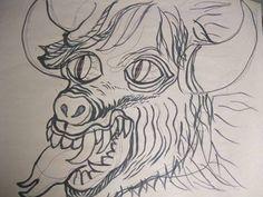 My Devil.  Sketch by Fio Zenjim. 2013.