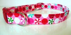 "Christmas Dog Collar - ""Peppermint Patty"" by katiesk9kollars on Etsy"