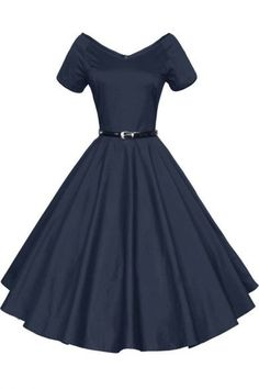 Vintage Dresses Women V-Neck Vintage Rockabilly Swing Evening Party Dress - Pretty Outfits, Pretty Dresses, Beautiful Dresses, Vintage Inspired Dresses, Vintage Outfits, Vintage Party Dresses, Retro Fashion, Vintage Fashion, Dress Outfits