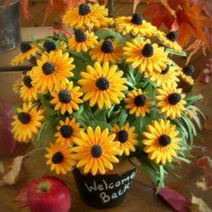 Black eyed Susan COOKIE bouquet