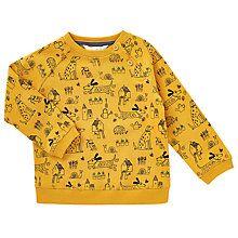 Buy John Lewis Baby Dog Print Sweatshirt, Yellow Online at johnlewis.com