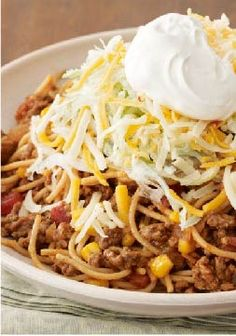 Taco Pasta Toss – FACT: Kids love pasta. FACT: Kids love tacos. Put it together and what do you get? A surefire dinnertime hit.