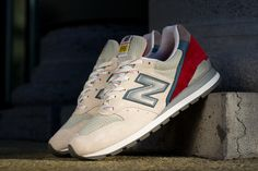 New Balance M996. Really like the red and blue kicking up at the heel.