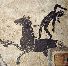Esercizi equestri, I d. C. Sotterranei di Palazzo Farnese, Roma. Cultura romana