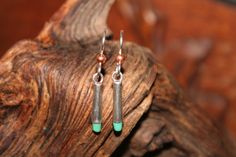Turquoise and silver earrings by WenJammerCreations on Etsy, $10.00