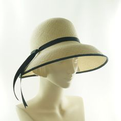 Wide Brim Hat for Women - Natural Panama Straw Hat - Reserved