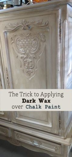 Home Interior Farmhouse Trick to Applying Dark Wax Over Chalk Paint on Furniture.Home Interior Farmhouse Trick to Applying Dark Wax Over Chalk Paint on Furniture Distressed Furniture, Repurposed Furniture, Painted Furniture, Annie Sloan Chalk Paint Furniture, Furniture Projects, Furniture Makeover, Diy Furniture, Antique Furniture, Furniture Stores