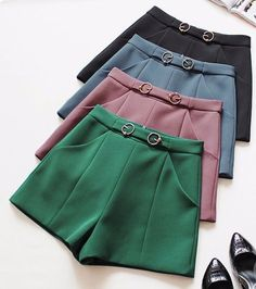Spring / Summer 🔆 Skirt Pants, Hot Pants, High Waisted Shorts, Casual Shorts, Look Con Short, Winter Shorts, Love Fashion, Womens Fashion, Short Jumpsuit