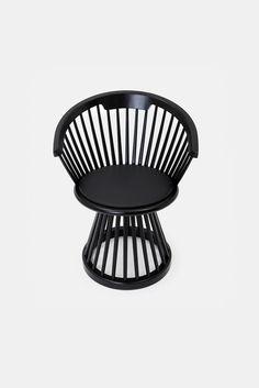 Fan Dining Chair - Black | TOM DIXON | Stylepaste.com