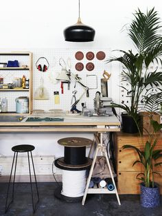 The Melbourne studio of designer Kate Stokes and her company, Coco Flip. Photo – Eve Wilson for The Design Files. Via @thedesignfiles